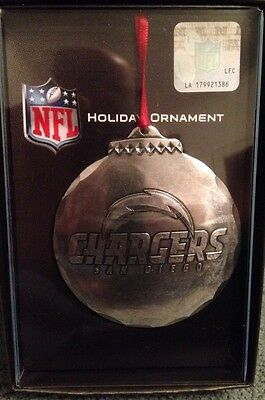 Wendell August Forge San Diego Chargers Christmas Ornament