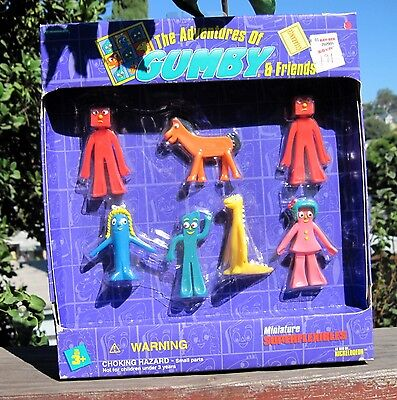 Rare MIP Trendmasters The Adventures of Gumby & Friends Miniature Superflexies