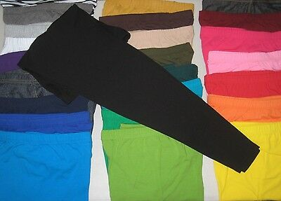 Cotton Spandex Ankle Length Leggings Pants Misses Women's Plus Size S-5XL COLORS