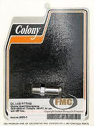 "Colony Machine 2070-1 Oil Line Fitting 1/8"" NPT to 3/8"" Nipple OE# 63533-41 EACH"
