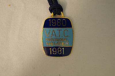 VATC - Victorian Amateur Turf Club - Collectable - 1980 - Prov. Members Badge