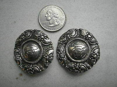 """Signed Amy Kahn Russell """"AKR"""" ORIENTAL THEME EARRINGS,CLIP ONS-STERLING?"""