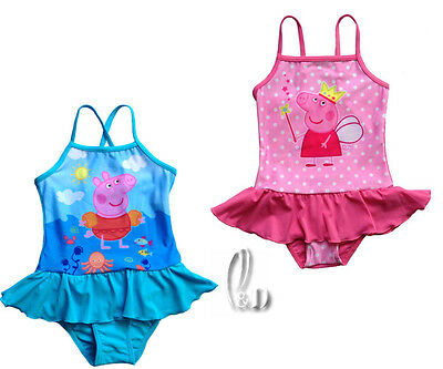 Au Stock Girls 3-6Y Peppa Pig Swimwear One Pcs Swimsuit Bathers Swimmer Gs010
