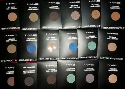 MAC Eye Shadow Pro Palette Refill Pan choose your shade 100% Authentic