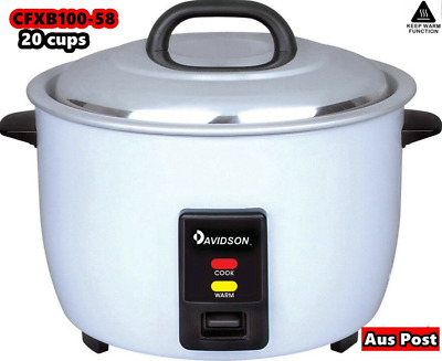 Davidson Commercial Rice Cooker 3.6L/20 Cups Cooking/Keep Warm CFXB 100-58 NEW