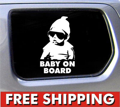 "Hot Car Decoration""Baby on Board""Window Die Cut Vinyl Sticker Carlos Funny Decal"