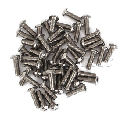 50pcs 304 Stainless Steel M5 Metric Hex Socket Head Cap Screw Bolts Silvery