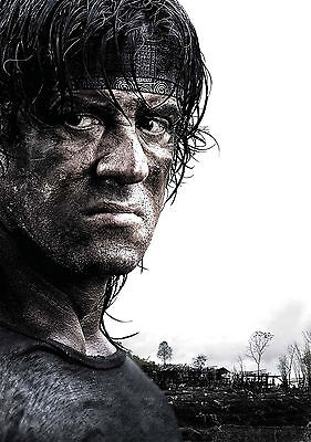 Rambo Stallone Giant Poster - A0 A1 A2 A3 A4 Sizes