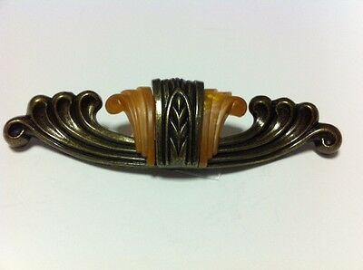 Waterfall Bakelite & Die Cast Drawer Pull For Furniture From The 1930's - Wf101