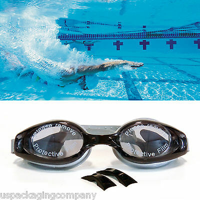 Black / Gray UV Protection Anti Fog Swimming Swim Goggle Adjustable Glasses