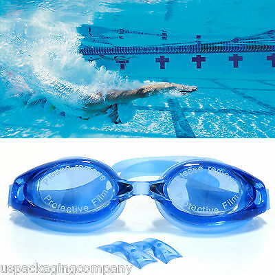 Blue Professional Grade Anti Fog UV Protection Adjustable Swimming Goggles