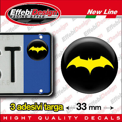 ADESIVI stickers bollini targa/plate BATMAN JOKER BEGIN FILM ACTION MOVIES