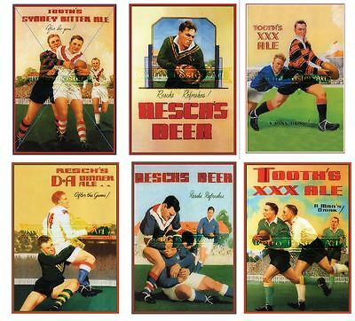 Reschs tooths rugby complete 6  set  premium 250gsm satin posters great value