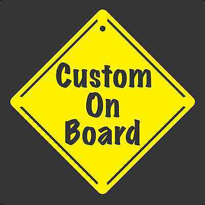 BUY ONE GET ONE FREE CUSTOM ON BOARD Window Decal/Sticker Yellow CD size