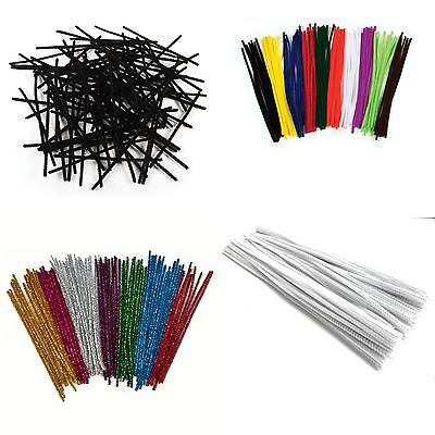 Craft Pipe Cleaners 150mm 300mm Chenille 30cm 15cm  Festive xmas Black White