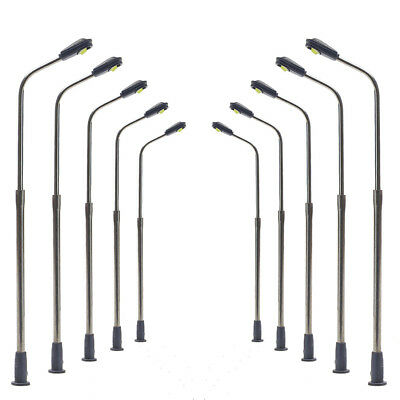 LQS06 20pcs Model Railway Train Lamp Post Street Lights N Scale LEDs NEW