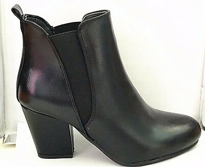 Ladies Womens Chunky Platform Cleated Sole  Ankle Boots Croc Black
