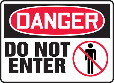 "NMC D104RC Safety Sign ""DANGER DO NOT ENTER"" 14"" X 20"" Rigid Plastic"