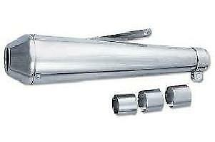 "Emgo Universal Chrome Megaphone Style Muffers 17"" Suit Custom Applications Each"