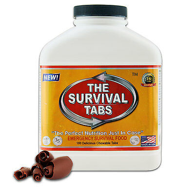 Survival Tabs 180 Emergency Food 15 Day Emergency Supply Bottle