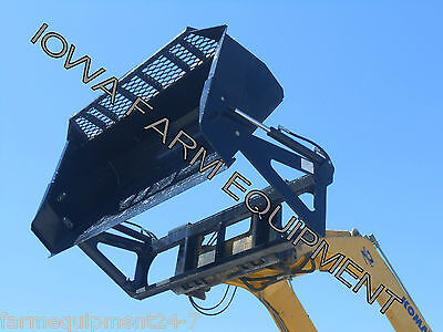 "HLA 72"" Skid Steer Quick Attach High Dump, Hi Dump Bucket: Adds Up To 4' Reach!"