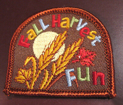 FALL HARVEST FUN, NEW PATCH for Girl Scouts Badge THANKSGIVING