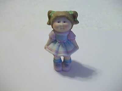 Cabbage Patch Kids Figurine Porcelain 1984 Girl in Dress Xavier Roberts