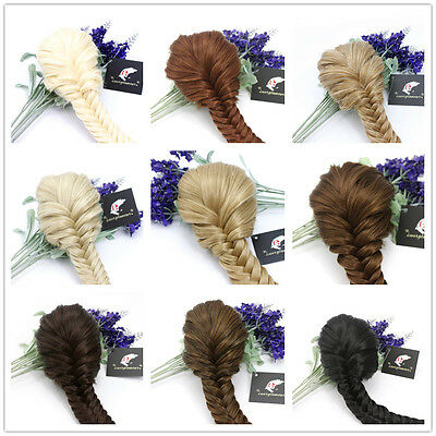 Superior Quality Clip in Fishtail Plaited Pony Tail Hair Extension Piece Braid