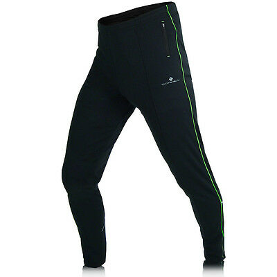 Ronhill Evolution Mens Long Black Trackster Running Pants Track Bottoms New