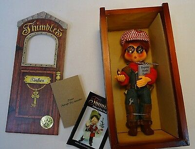 Annalee Christmas Thimbles Tinker Midnight Toy Assembler in original box
