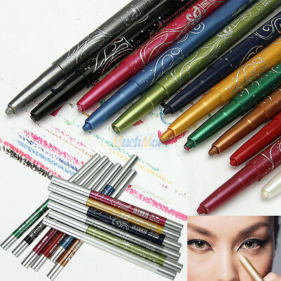 New Pro 12 Color Eye Shadow Eyeliner Lip Liner Pencil Cosmetic Makeup Set US