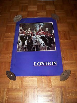 """LAMINATED 24X36"""" TRAVEL ADVERTISING TOURISM POSTER~London England Queen's Guard~"""