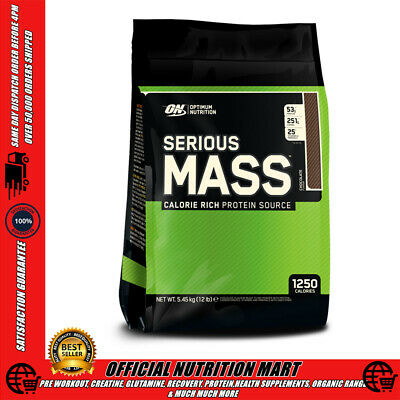 OPTIMUM NUTRITION SERIOUS MASS WHEY PROTEIN 12LB - 5.45kg - BULK MASS GAIN