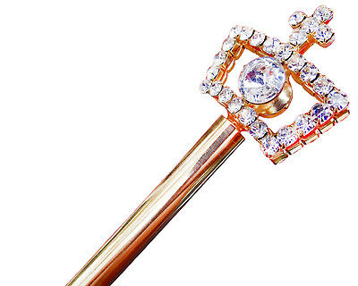 Small Wedding Bridal Crystal Scepter Wand Sweet 15 Quinceanera Wand Prom Gift