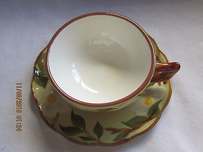 1 Stangl Hand Painted Cup and Saucer Set - White Dogwood Pattern