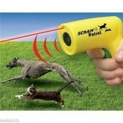 Scram Patrol Sonic Dog Repeller - Sonic Animal Chaser with Laser to Target Sound