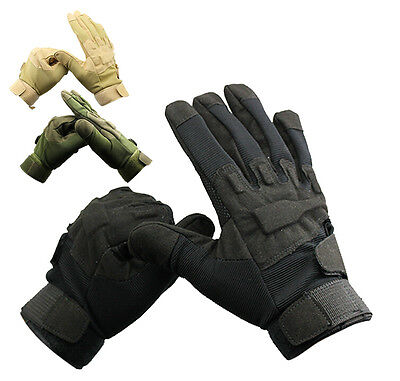 New Motorcycle Cycling Army Airsoft Military Tactical Knuckle Full Finger Gloves