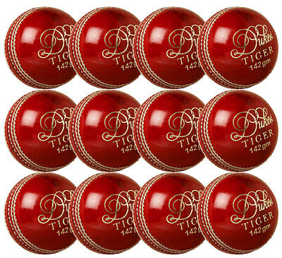 Pack of 12 Dukes Tiger Youth Cricket Balls Boys Hand Sewn Leather School Match