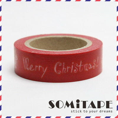 Red Merry Christmas!  Washi Tape, Craft Decorative Tape