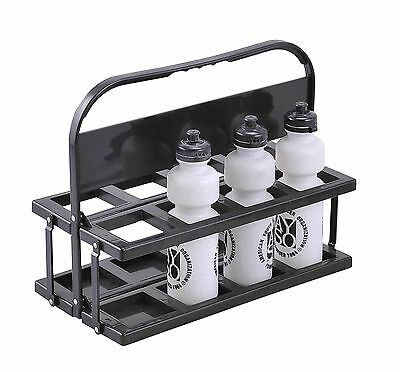Water Bottle Carrier Holder 8 Collapsible Slots Soccer Rugby Cricket Netball