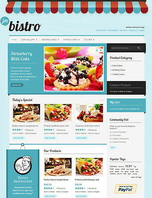 New Restaurant Website For Sale, Food Portal Working Free Domain