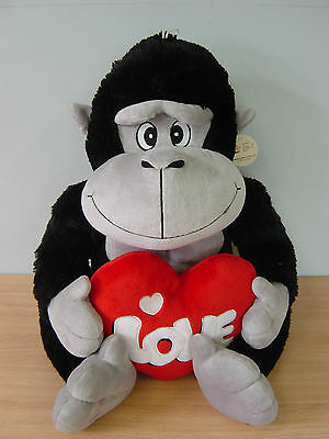 Giant Plush Love Heart Gorilla Teddy Bears Valentines Day Gifts Sit-Height 45cm