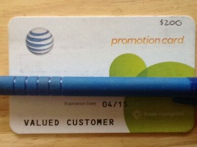 AT&T Promotion Card / Gift Card $200 If you want more message me