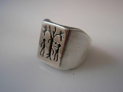 Adam and Eve Family Tree , tree of life Ring Solid Sterling Silver 925