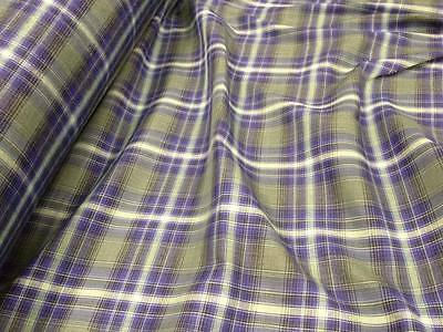 BLUE Plaid Cotton Flannel Fabric by the Yard Shirting, Blanket, Quilting