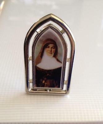 St Mary MacKillop Standing silver metal arch plaque 4.5cm (H)