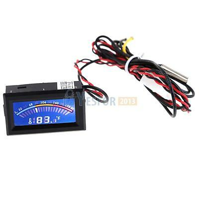 Digital Thermometer Temperature LCD Display Meter Gauge PC Mod C/F Long Probe