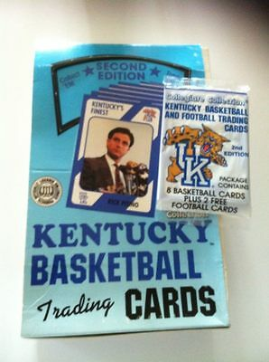 University of Kentucky Basketball Trading Cards VINTAGE 1989 2nd Edition.