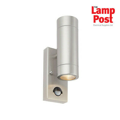 SAXBY Palin 51893 Stainless Steel UP/DOWN Outdoor Wall Light + PIR IP44