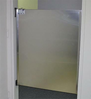 "Cafe Door 36""x42"" Stainless Steel Saloon Door Restaurant Kitchen Traffic Door"